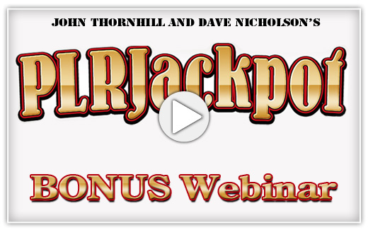 PLR Jackpot Webinar Bonus